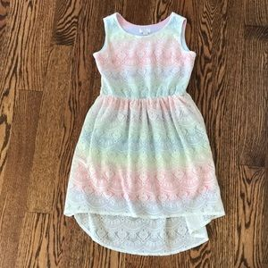 The Children's Place Lace Overlay Hi-Low Dress